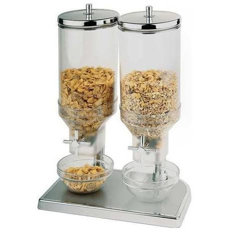 Dispenser Cereale inox APS  2 x 4.5 L