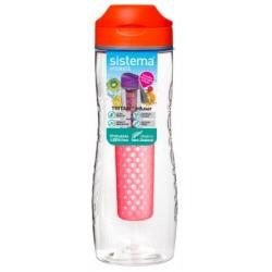 Sticla plastic Sistema Infuser Tritan 800 ml diverse culori