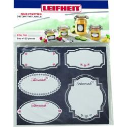 Etichete decorative alb si negru Leifheit
