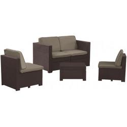 Set mobilier gradina Curver Modus maro
