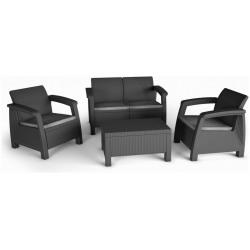 Set mobilier gradina graphite Keter Bahamas