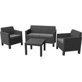 Set mobilier gradina Curver Orlando gri