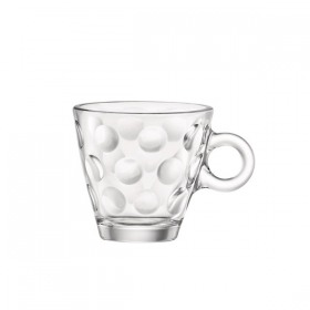 Set 6 Cani Expresso Bormioli Dots 100 ml