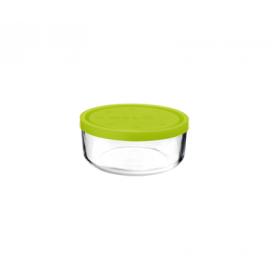 Cutie alimente rotunda Bormioli Gelo Verde 11cm 340 ml