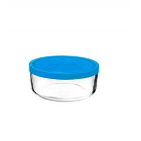 Cutie alimente rotunda Bormioli Gelo Albastra 14 cm 740 ml
