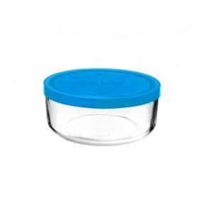 Cutie alimente rotunda Bormioli Gelo Albastra 18 cm 1.25 L