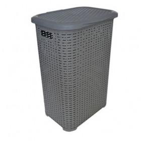 Cos rufe plastic gri Tuffex Rattan 45 L