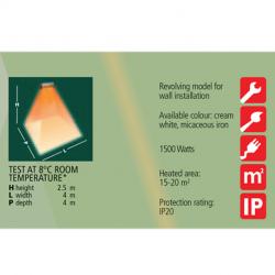Incalzitor cu lampa infrarosu Varma 1500 w (r7s) IP 20 - V301