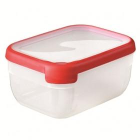 Cutie alimentara dreptunghiulara rosie din plastic Curver Grand Chef 1.8 L