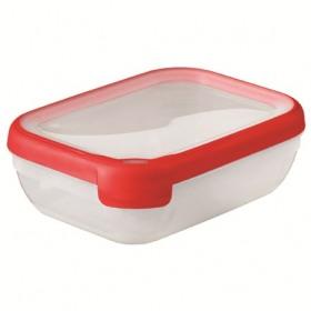 Cutie alimentara dreptunghiulara rosie din plastic Curver Grand Chef 1.2 L