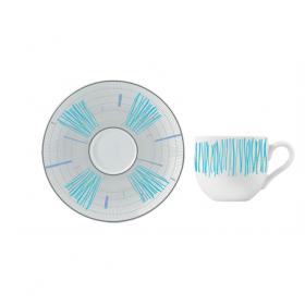 Ceasca si farfurie portelan ceai Versace 19.69 Arapaho 200 ml