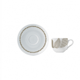 Ceasca si farfurie portelan ceai Versace 19.69 Atramento 200 ml