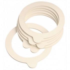 Set 6 garnituri pentru borcan Fido Terrina 8 cm