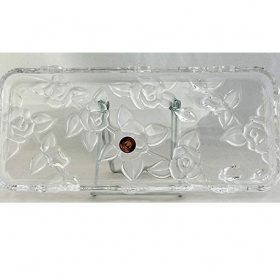 Platou sticla Walther Glass Georgina 35 cm