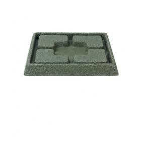 Suport ghiveci imitatie marmura verde Kurver Piazza 21 cm