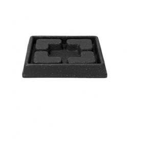 Suport ghiveci imitatie marmura negru Kurver Piazza 21 cm