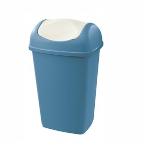 Cos de gunoi albastru cu capac batant Tontarelli Grace 15 L