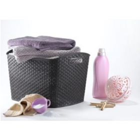 Cos multifunctional imitatie rattan maro Curver My Style XL 24 L