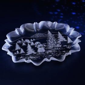 Platou sticla Walther Glass Weihn 34 cm