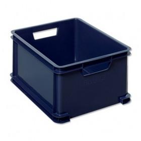 Cutie suprapozabila plastic albastra Curver Unibox 30 L