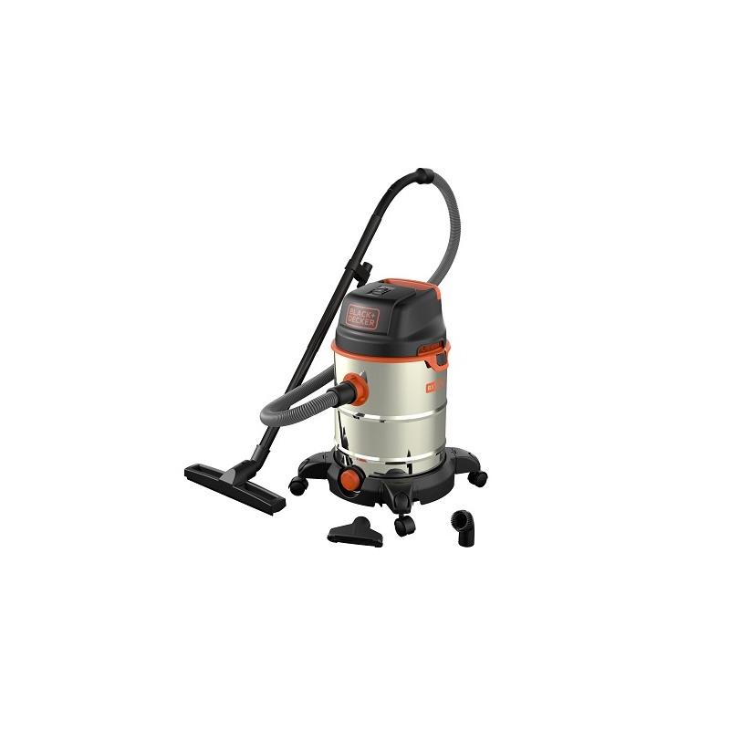 Aspirator umed/uscat Black+Decker 1600W 30L cuva inox - BXVC30XDE
