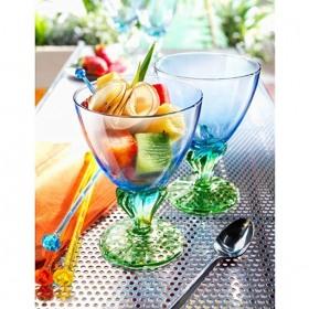 Set 2 cupe desert sticla Bormioli Bahia Bicolore 360 ml