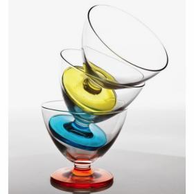 Set 3 cupe sticla verde desert Bormioli Tulip 260ml