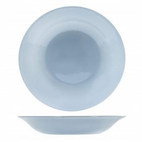 Farfurie adanca sticla Bormioli Tone Grey New Acqua Gri 23 cm