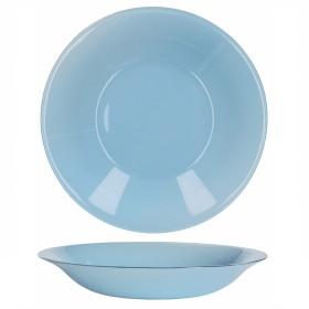Farfurie adanca sticla Bormioli Tone Blue New Acqua Albastru 23 cm