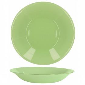 Farfurie adanca sticla Bormioli Tone Green New Acqua Verde 23 cm