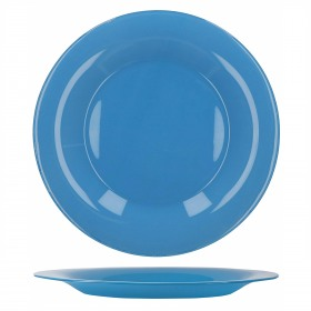 Farfurie intinsa sticla Bormioli Tone Blue New Acqua Albastru 27 cm