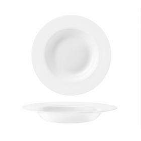 Farfurie adanca opal Bormioli Orione alb 24.5 cm