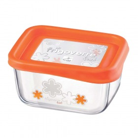 Cutie alimente Bormioli Frigoverre Fun portocaliu 13x10 cm 0.4 l