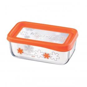 Cutie alimente Bormioli Frigoverre Fun portocaliu 21x13 cm 1.1 l