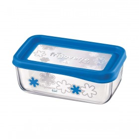 Cutie alimente Bormioli Frigoverre Fun albastru 21x13 cm 1.1 l