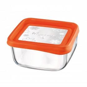 Cutie alimente Bormioli Frigoverre Fun portocaliu 15x15 cm 1 l
