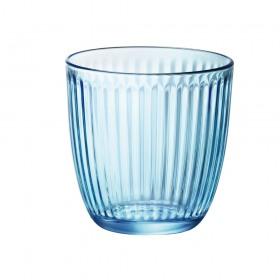 Set 6 Pahare Apa Bormioli Line albastru 290 ml