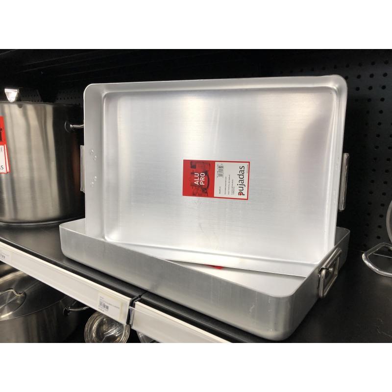 Tava cuptor aluminiu cu manere Pujadas 50 x 35 x 7 cm