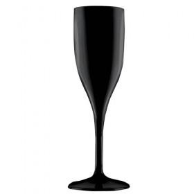 Pahar sampanie negru policarbonat Gold Plast Flute 150 ml