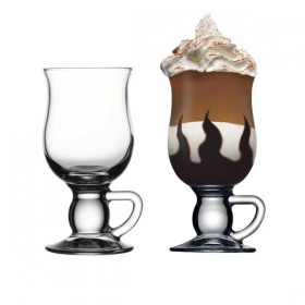 Set 2 pahare cu maner Pasabahce Irish Coffee 270 ml