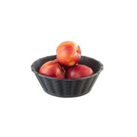Cos paine sau fructe negru rotund polipropilena APS 20 cm