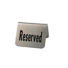 Set 2 placute inox masa rezervat APS 5.5 x 5 cm