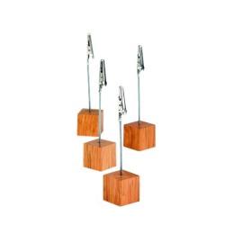 Set 4 suporturi lemn pentru carduri de masa APS 2.5 x 2.5 cm