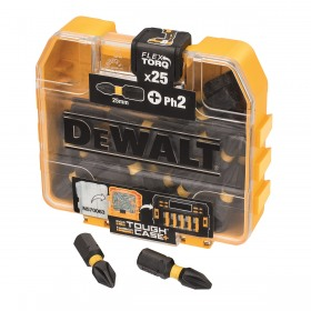 Set Tic Tac 25x Ph2 25mm de impact Flextorq DeWalt - DT70555T