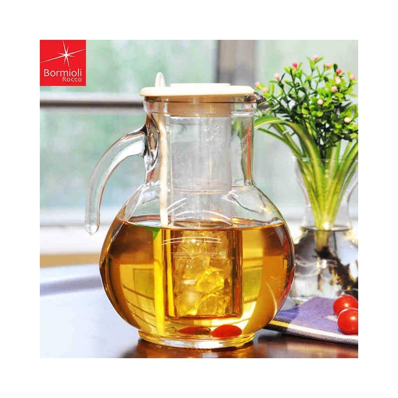 Carafa din sticla cu tub de gheata Bormioli Kufra 2 L