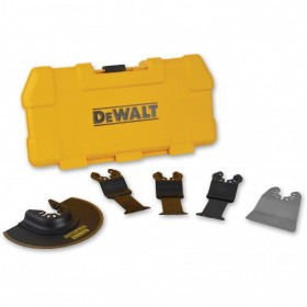 Set 5 accesorii pentru multi-cuttere cu Quick System Change DeWalt - DT20715