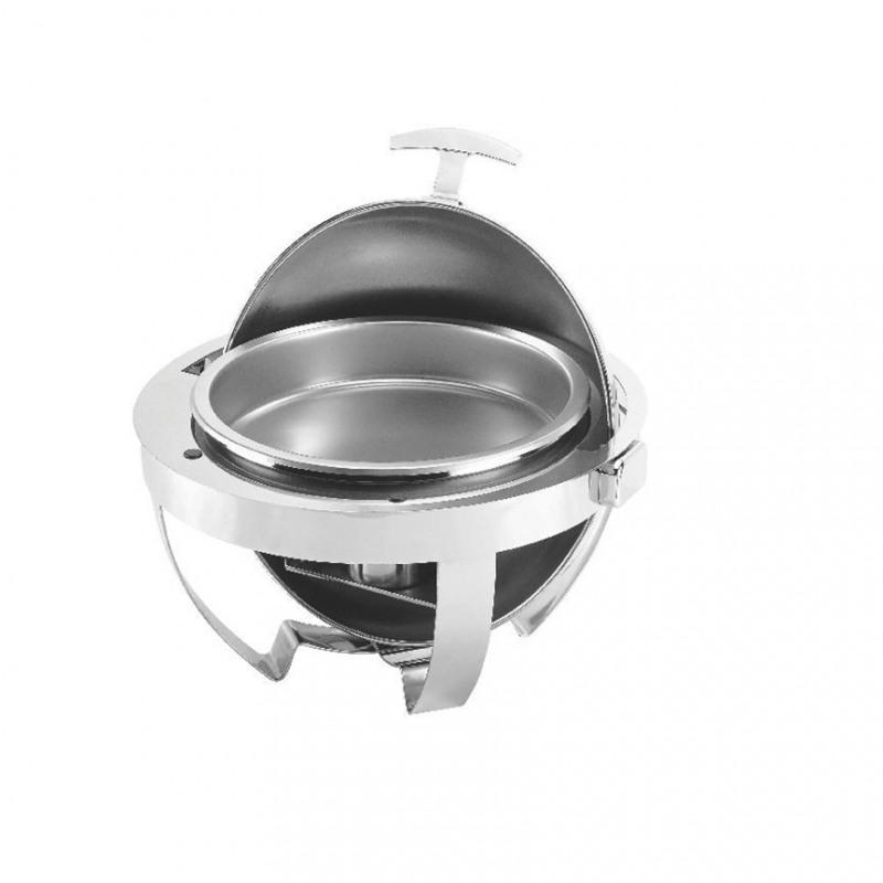 Chafing dish rotund cu capac roll top Yalco 54 x 41cm