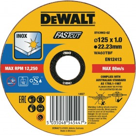 Disc abraziv pentru metal DeWalt 125x1x22.23mm - DT43902