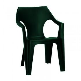Scaun din plastic Curver Dante verde inchis