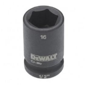 Cheie tubulara de impact 1/2 DeWalt 16 mm - DT7534